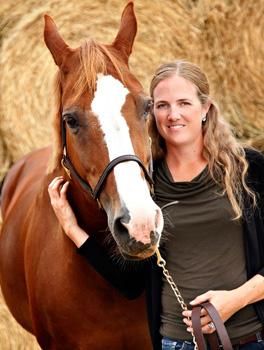 Head Coach Christine Kinsella, owner of Trevella Stables, pictured with one of her horses